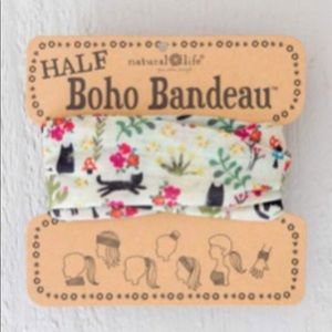 Natural Life Half Boho Headband Bandeau Cats